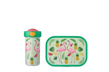 lunchset campus (vb+bd) - tropical flamingo