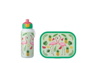 lunchset campus (pu+bd) - tropical flamingo