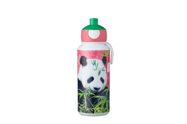 trinkflasche pop-up campus 400 ml - animal planet panda