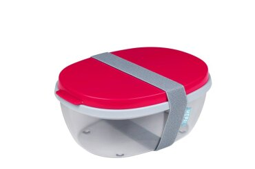 Salatbox Ellipse - Nordic red