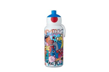 trinkflasche pop-up campus 400 ml - graffiti