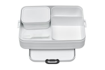 bento lunch box take a break large - white