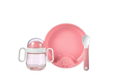 set baby dinnerware mio 3 pcs - deep pink