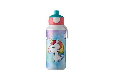 drinking bottle pop-up campus 400 ml - unicorn