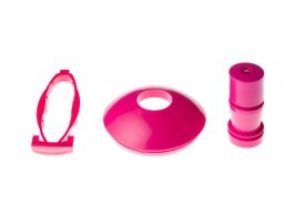 Drinkbeker pop-up kapje, tuit en knop - pink