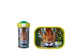 lunchset campus (sb+lb) - animal planet tijger