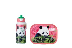 lunchset campus (pu+lb) - animal planet panda