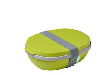 Lunchbox Ellipse duo - Lime (lichtgroen)