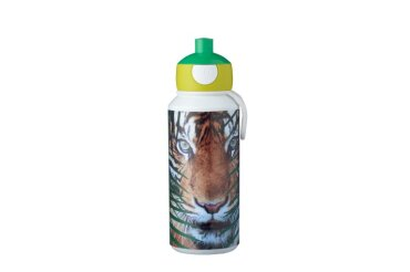 drinkfles pop-up campus 400 ml - animal planet tijger
