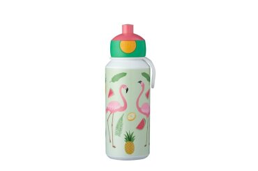 drinkfles pop-up campus 400 ml - tropical flamingo