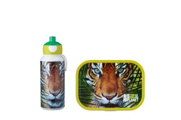 lunchset campus (pu+lb) - animal planet tijger