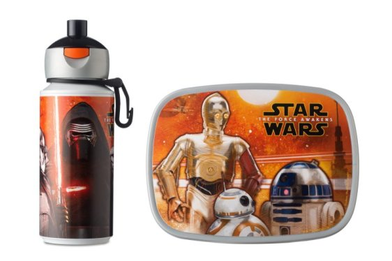 Lunchset Campus pop-up drinkfles + lunchbox midi - Star Wars