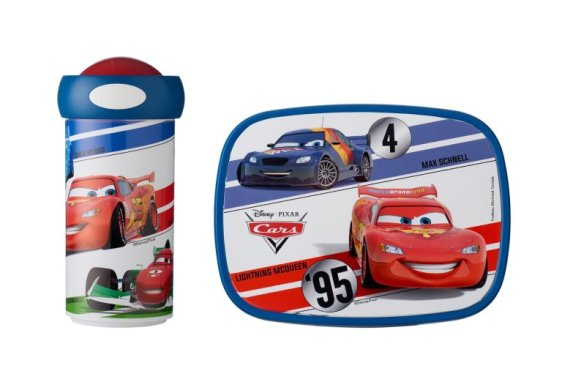 Lunchset Campus schoolbeker + lunchbox midi - Cars World Grand Prix