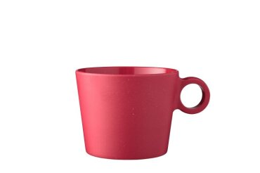cappuccino mug bloom 375 ml - pebble red