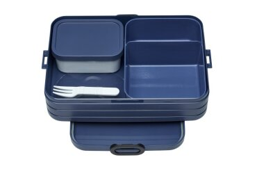 bento lunch box take a break large - nordic denim